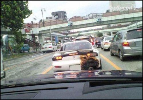 Burnt Car Bumper