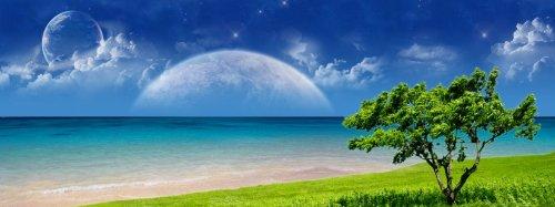 Ocean Moon Rise