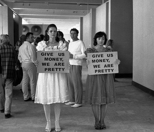 Give us money, we are pretty