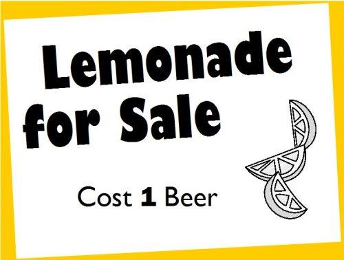 lemonade for sale - one beer