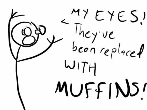 My Eyes Have Been Replaced With Muffins