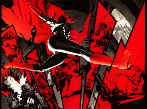 Batgirl Jumps Red