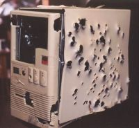 Bullet Riddled Computer