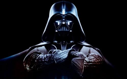 dark vader has crossed arms
