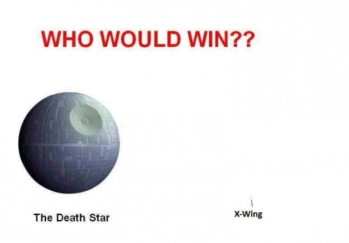 who would win - death star vs x-wing