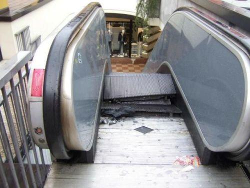 escalator destruction