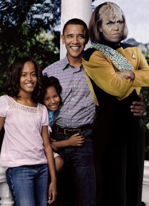 Obama - worf family portraite