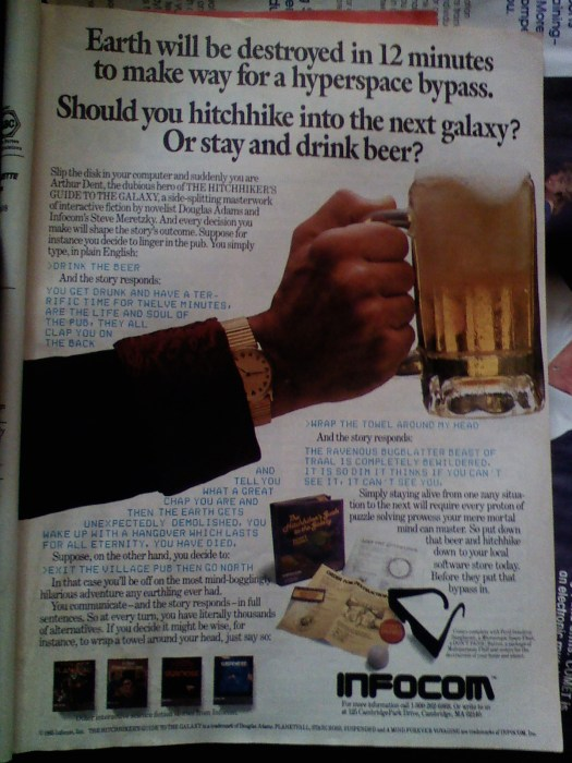 Hitchiker's Guide To The Galaxy Video Game