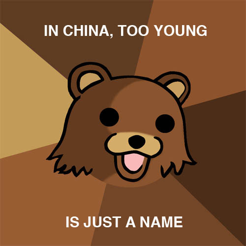 in china, too young is just a name