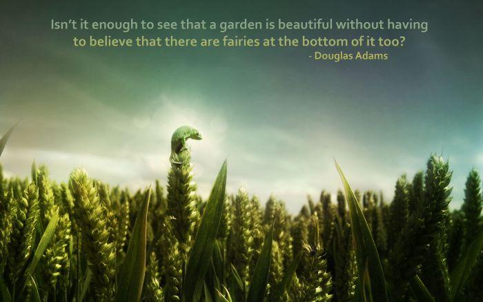 douglas adams on beautiful gardens