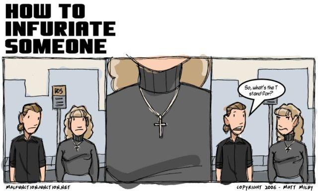 hot to infuriate a christian