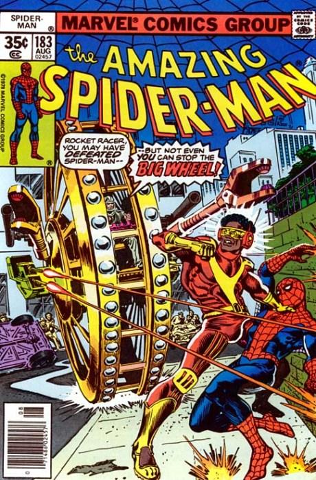 rocket racer and spider-man