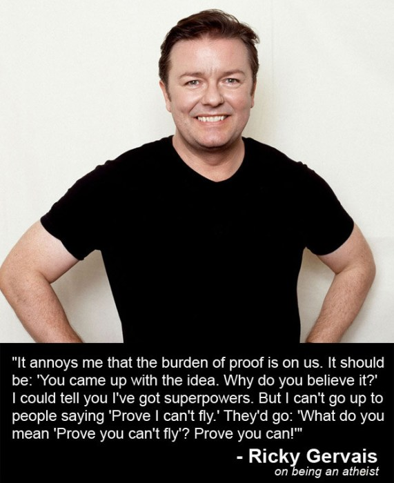 Ricky Gervais on being an atheist