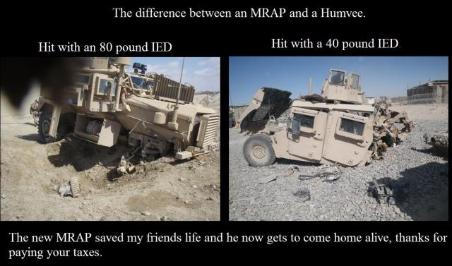 the difference between an MRAP and a Humvee