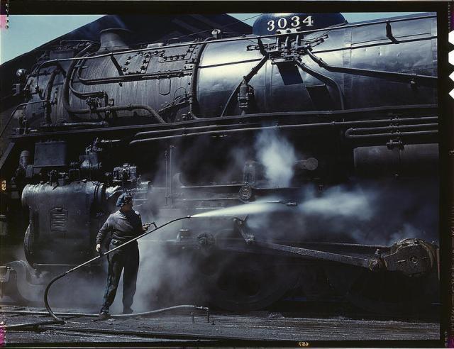 steam engine clean up