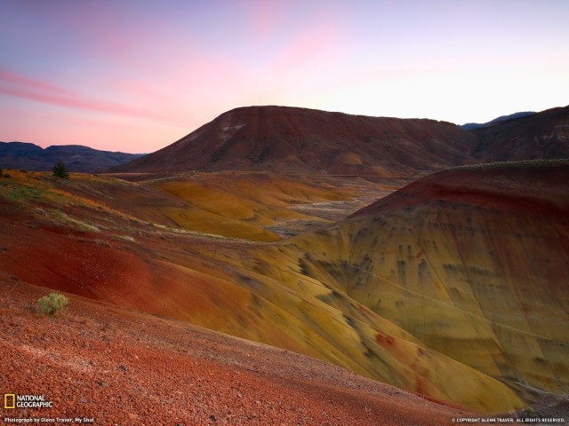 colored hills