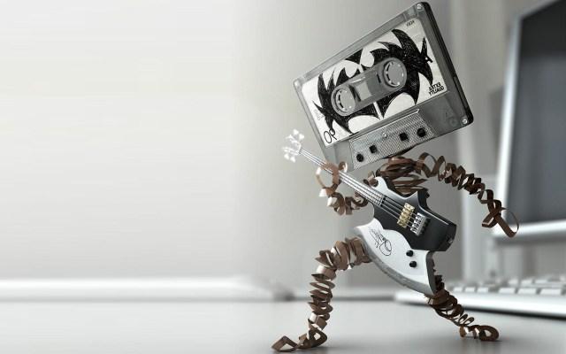 metal tape wallpaper