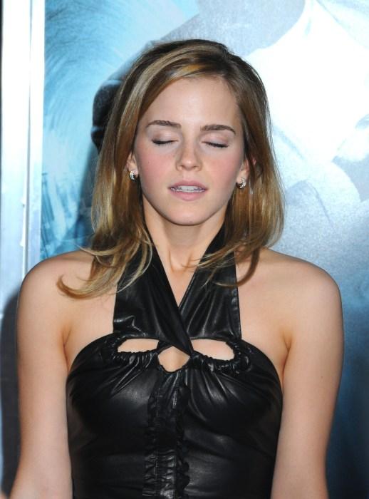 emma watson - eyes closed