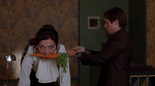 secretary with carrot