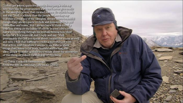 attenborough on giving god credit