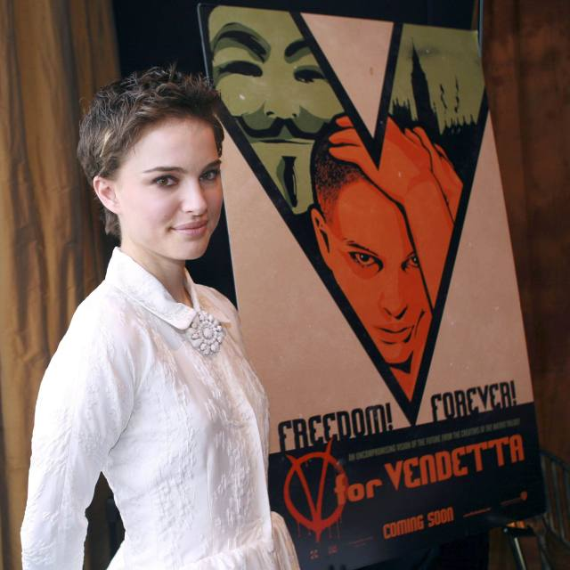 natalie portman and V poster