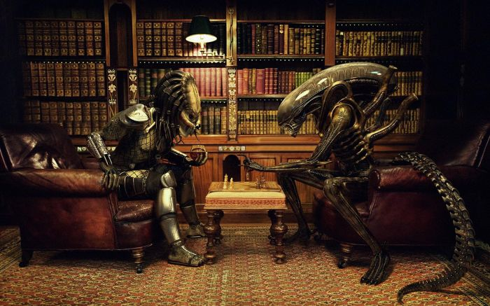 alien vs predator chess game