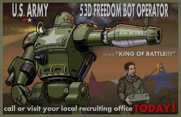 US Army 53rd freedom bot operator