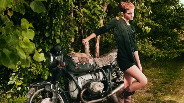 emma with motorcycle