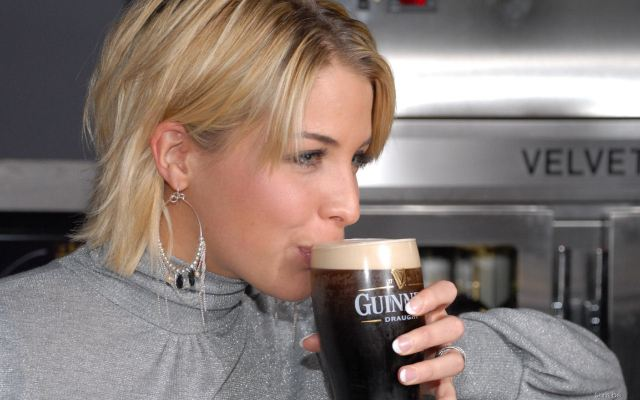 guiness draught woman