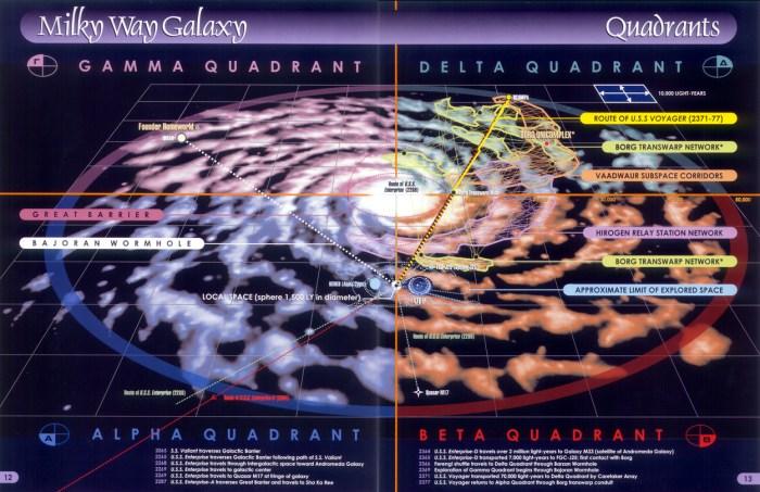 star trek star map