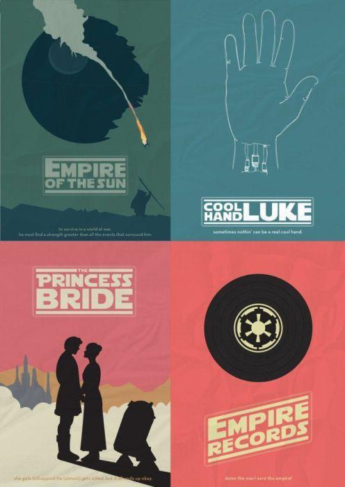 star wars movie poster mash up