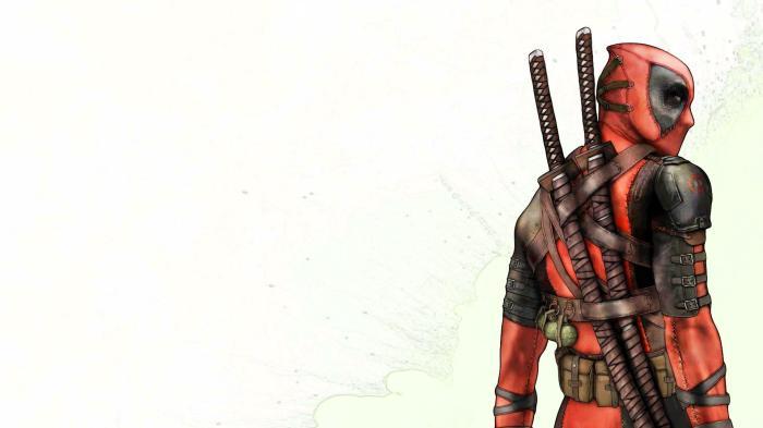 deadpool - over the shoulder