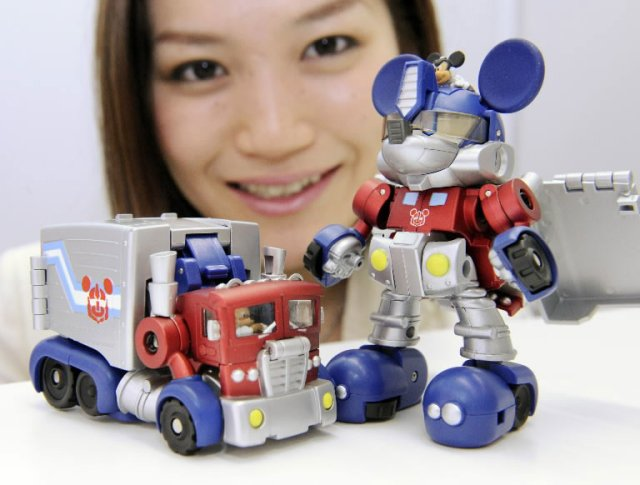 mickey mouse optimus prime