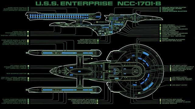 uss Enterprise ncc-1701-b diagram
