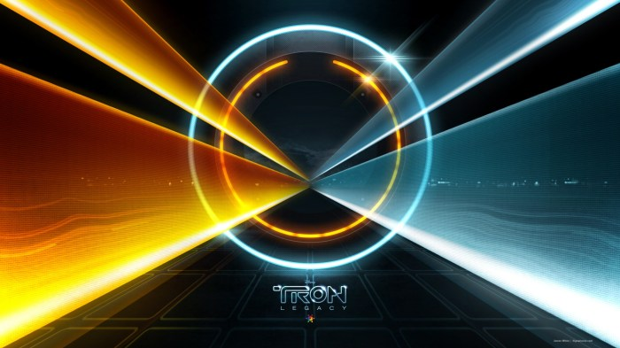 tron - blue and yellow