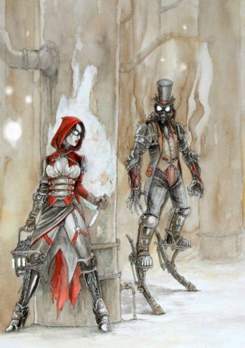 Steampunk Fairytale Red by odingraphics