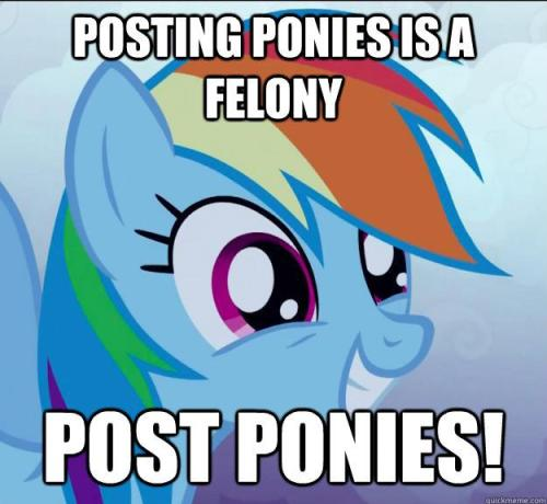 posting ponies is a felony