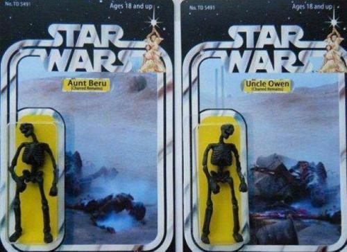 star wars toys - burnt remains