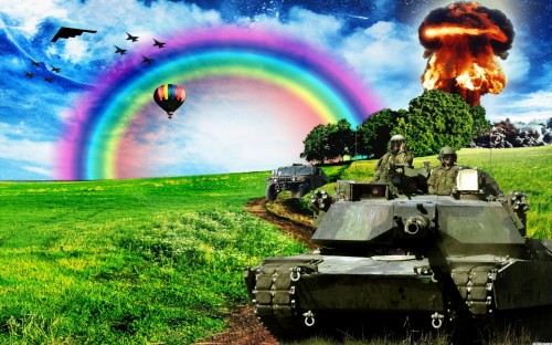 rainbow military explosions