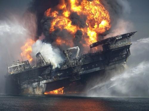 broken oil platform