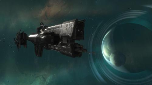 halo ship in space