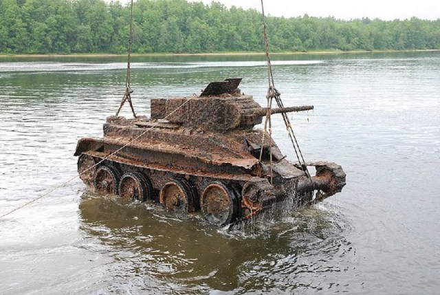 rusted up tank in a lake.jpg