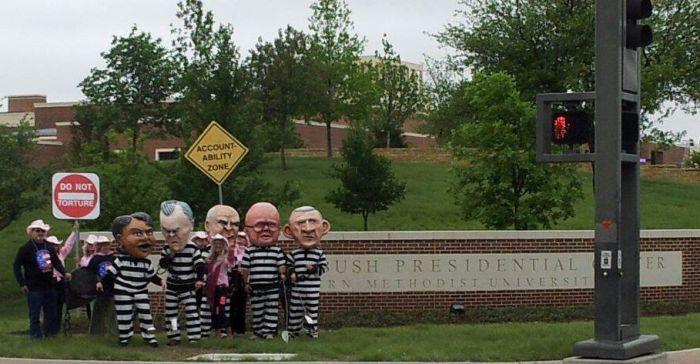 bush library protest.jpg
