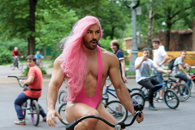 sexy pink hair on a bike.jpg