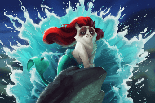sexy grump cat as a mermaid.png