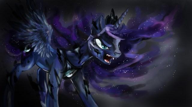 Princess_Luna_(transforming_into_Nightmare_Moon)_wallpaper_by_artist-dreampaw