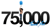 75,000 Thank you