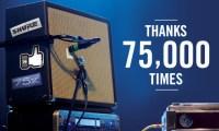 75,000 thanks