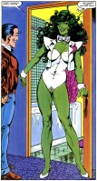She Hulk in a white swimsuit and bow tie.jpg
