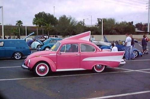VW Pink Cadillac